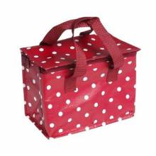 Red And White Spot Insulated Lunch Bag