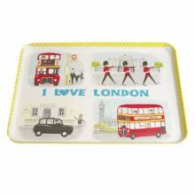 I Love London Snacks Tray 22x30cm.