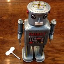 Tin Toy Mechanical Robot 20cm 602259