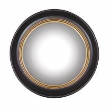 Round Convex Ships Mirror With Black Frame D:53cm
