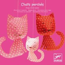 Perched Cats - Hanging Decorations By Djeco
