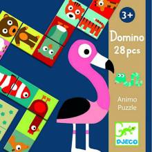 Animal Dominoes Animo By Djeco 28pc Age 3yr+