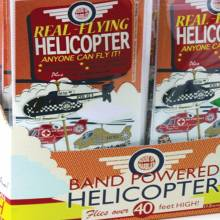 Helicopter Kit - Rubber Band Powered