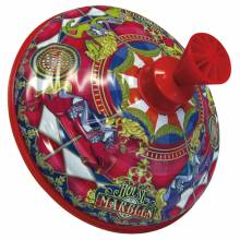 Large Humming Spinning Top Tin Musical Carousel 3yr+
