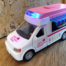Z DISC Ice Cream Van Toy Car Diecast Teamsterz