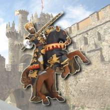 KING RICHARD Black & Gold Knight with Lance