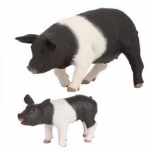 Black And White Piglet Papo Farm Animals
