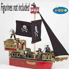 Wooden PIRATE SHIP PAPO Fantasy Figure
