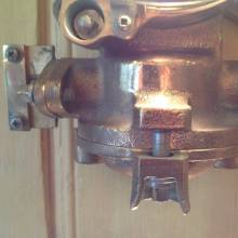 Bronze Polished Ship's Engine Room Lamp With Glass Dome