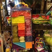 Elemenosqueeze Rubber Alphabet Blocks Baby B. Toys