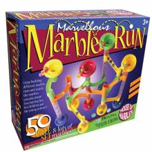 Marble Run 50 Piece with marbles.