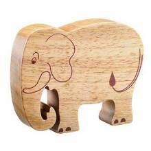 Elephant Wooden Animal Figure Handcrafted Fairtrade Lanka Kade