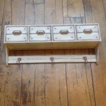 Shelf With 4 Drawers and 3 Hooks