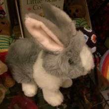 Grey And White Wilberry Bunny Soft Toy