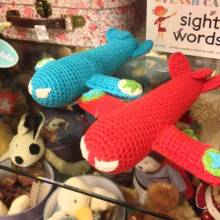 Fairtrade Crochet Knit Aeroplane Rattle