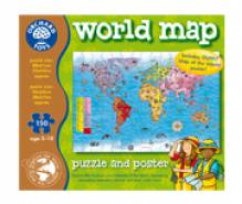 World Map Puzzle And Poster Orchard Toys