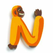 LETTER N - DJECO Animal Letter Decorative Alphabet Letter