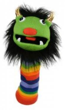RAINBOW Knitted Sockette Brightly Coloured Glove Puppet MULTI