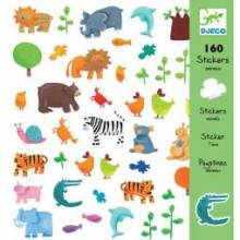 Animals Stickers Stylish 160 Sticker Pack Djeco