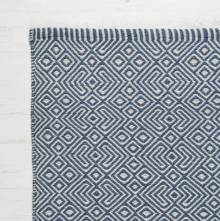 Provence NAVY 110cm x 60cm Recycled Bottle Rug