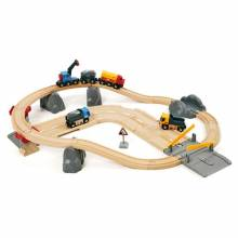 Rail & Road Loading Set BRIO® Wooden Railway Age 3+