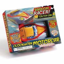 Random Racer Clockwork Tin Toy Car In Retro Box