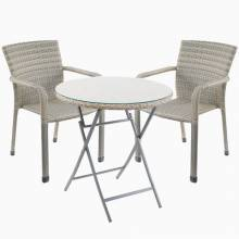 Rattan Bistro Plus Armchairs And Table Set