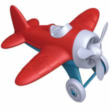 Red Airplane By Green Toys - Recycled Plastic 1+