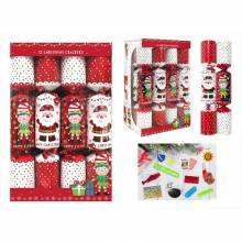 Box Of 12 Red & White Family Crackers