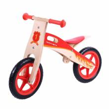 Red Wooden Balance Bike Without Pedals 2+