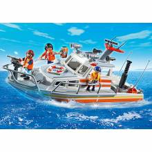 Rescue Boat With Water Hose Playmobil 5540