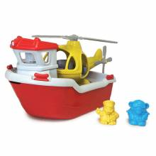 Rescue Boat & Helicopter By Green Toys - Recycled Plastic 2-6yrs