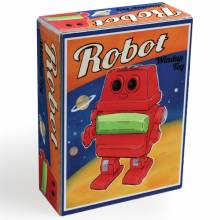 Robot Wind Up Toy In Retro Box