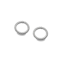 Circle Rope Sterling Silver Studs By Sea Gems
