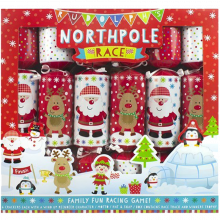 Rudolph's North Pole Race Set Of 6 Christmas Crackers