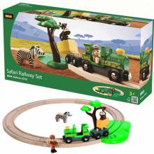 Safari Railway Set BRIO® Wooden Railway 3+