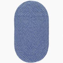 Sapphire Cream Oval Braided Rug Recycled Plastic 61x91cm