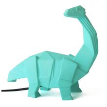 Green Origami Diplodocus Dinosaur Lamp