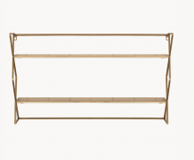 Diam Shelf Unit With Brass Finish