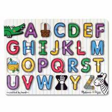 SEE INSIDE ALPHABET Small Peg Puzzle By Melissa & Doug