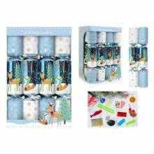 Box Of 12 Blue And White Family Crackers