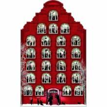 Silhouette Victorian Christmas House Advent Calendar
