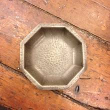 Small Octagonal Pewter Pedestal Dish