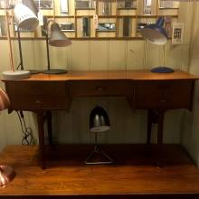 Low Teak Dressing Table With 5 Drawers