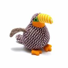 Little Benjie The Toucan Knitted Rattle Soft Toy 0+