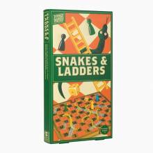 Snakes And Ladders - Handcrafted Wooden Board Game 3+
