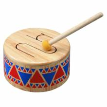 Wooden Drum Solid Drum  Plan Toys 18m+