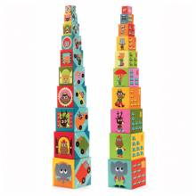 10 Stacking Cubes With Numbers Vehicles Game Djeco