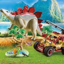 Explorer Vehicle With Stegosaurus Playmobil 9432