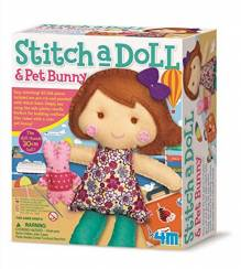 Stitch A Doll & Pet Bunny Craft Kit 8+